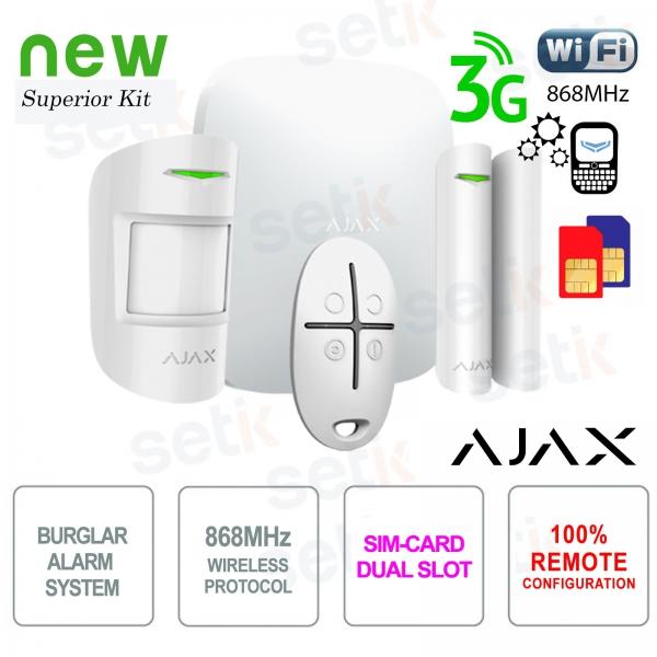AJAX Professional Wireless WIFI / 3G Dual Sim / LAN Alarm Kit