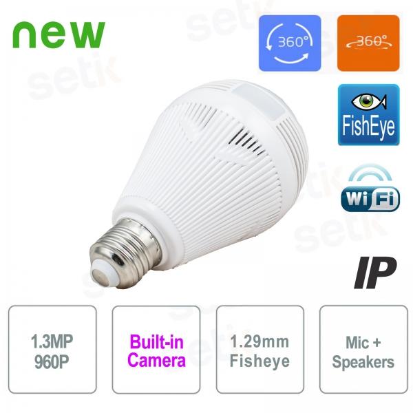 WiFi IP Camera Bulb 960P IR Overview - Setik