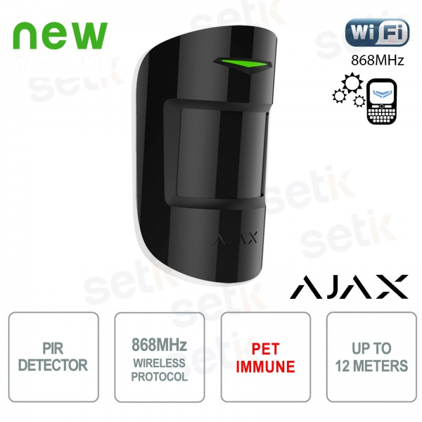 Ajax PIR Motion Detector Immune Pet 868MHz Black Version