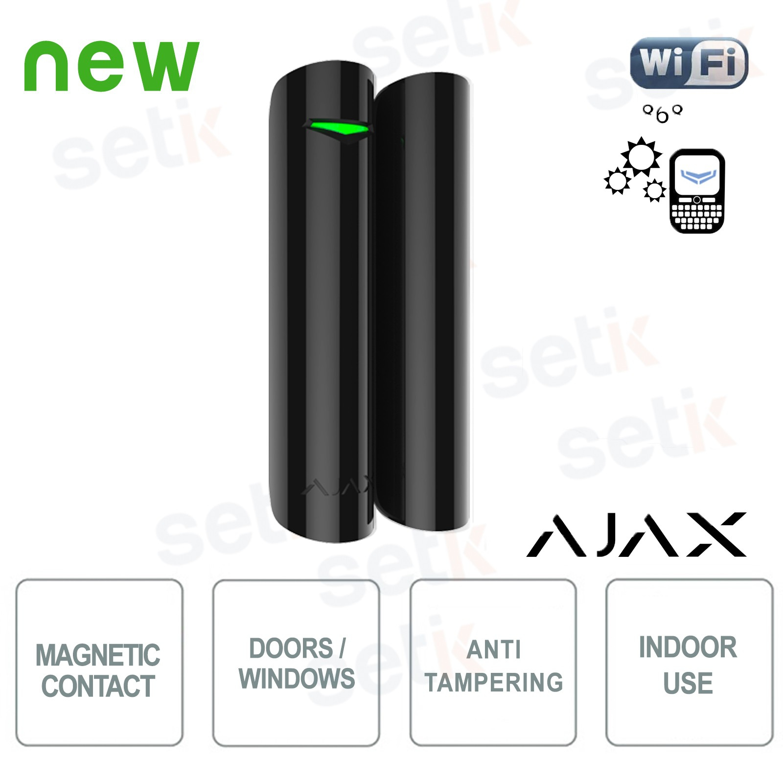 AJ-DOORPROTECT-B Ajax Contact magnétique alarme wireless porte//fenêtre  868Mhz