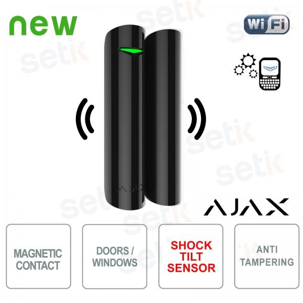 Ajax Contatto magnetico porta/finestra con rilevatore vibrazione/inclinazione 868Mhz Black
