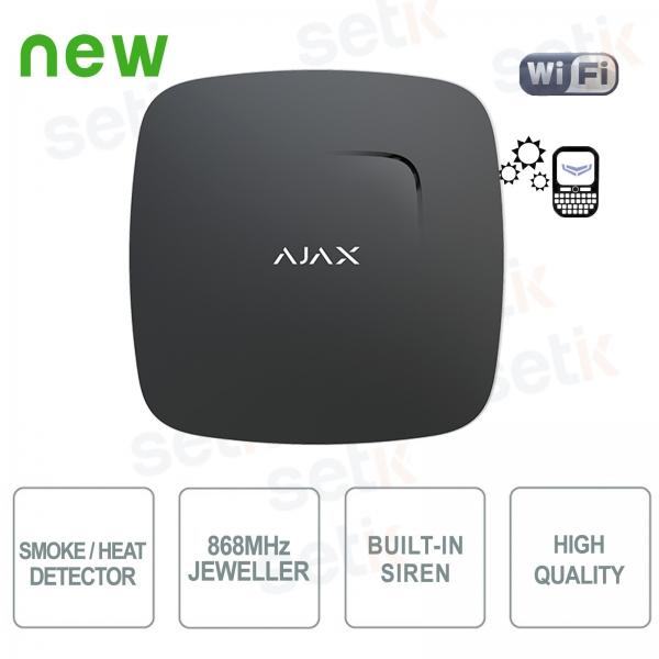 Ajax Rilevatore di fumo e sensore temperatura 868MHz Black