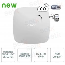 Ajax Smoke detector and temperature sensor and 868MHz monoxide