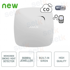 Ajax Smoke detector and... Ajax AJ-FIREPROTECTPLUS-W Wireless
