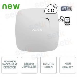 Ajax Rilevatore di fumo e... Ajax AJ-FIREPROTECTPLUS-W Wireless