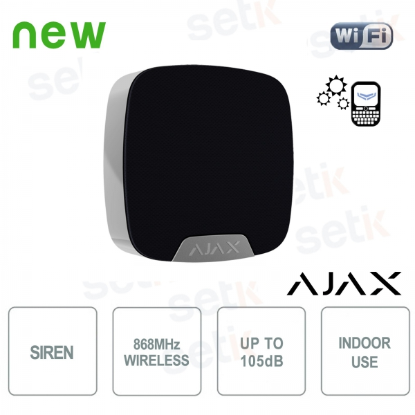 Ajax HomeSiren Sirena da interno senza fili 868MHz Black