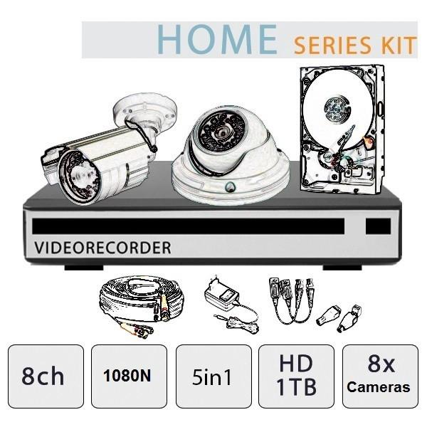 Kit Videosorveglianza 8 Canali - Serie Home