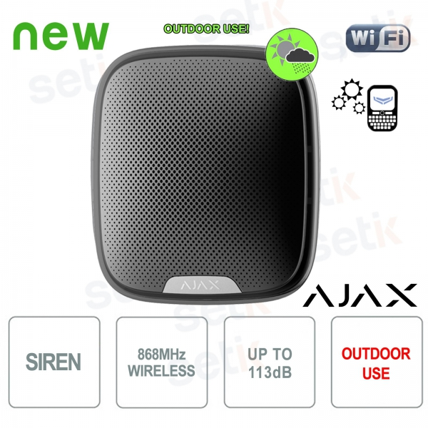 Ajax Wireless external alarm siren 868MHz Black