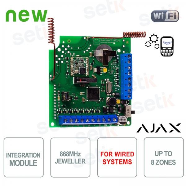 Ajax modulo integrazione sensori WiFi in sistemi cablati