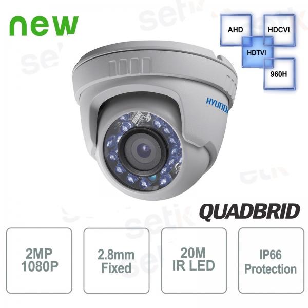Hyundai 2 MP 4 in 1 Dome 2.8mm IR Video surveillance camera