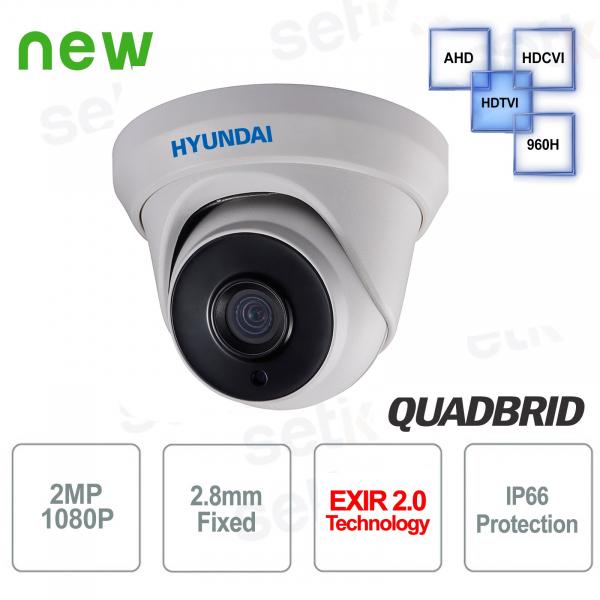 Video surveillance camera Hyundai 2 MP 4 in 1 Dome 2.8mm IR 40M
