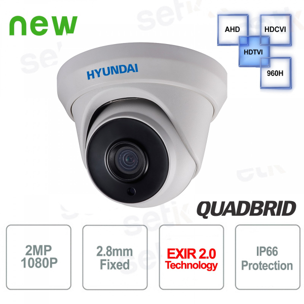 Telecamera Videosorveglianza Hyundai 2 MP 4 in 1 Dome 2.8mm IR 40M