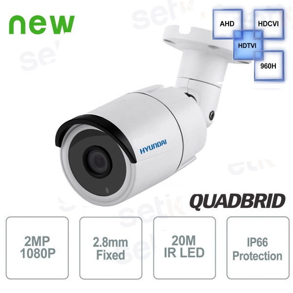 Telecamera Hyundai 2 MP 4 in 1 Bullet 2.8 mm IR20
