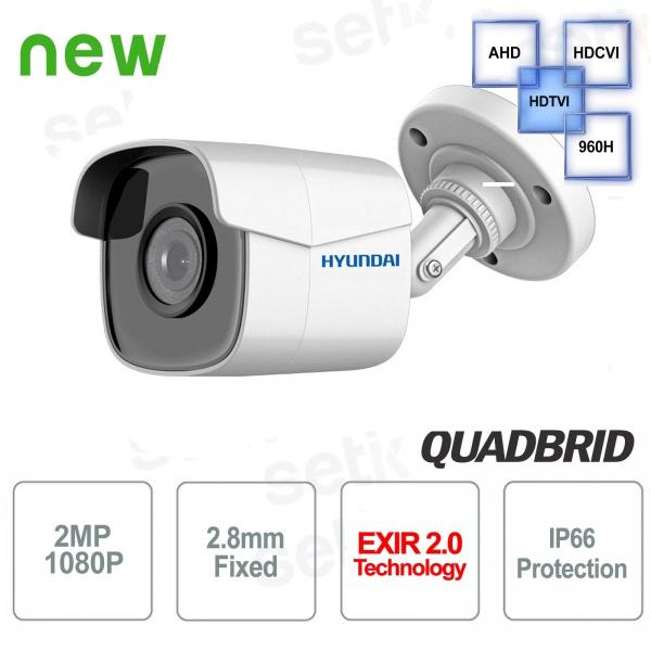 Telecamera Hyundai bullet 2 MP 4 in 1 2.8 mm IR