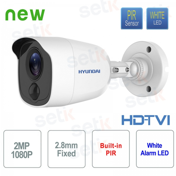 Hyundai Video Camera 2 MP HDTVI Bullet 2.8 mm with integrated PIR