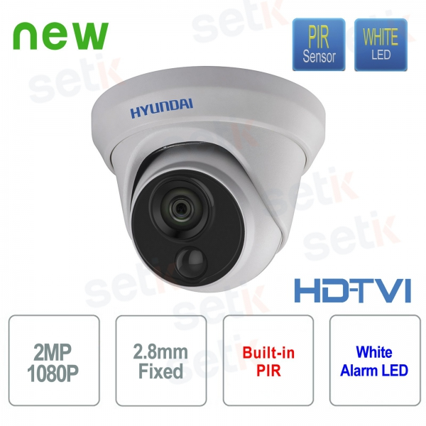 Telecamera Videosorveglianza Hyundai 2 MP HDTVI Dome 2.8 mm con PIR integrato