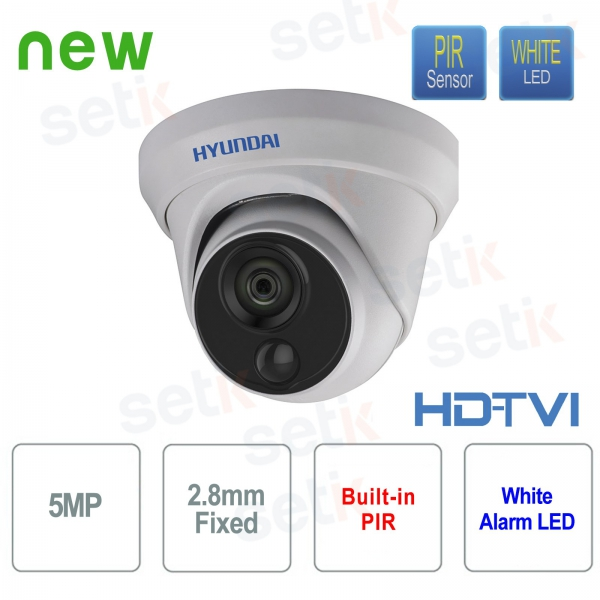 Video surveillance camera Hyundai 5 MP HDTVI Dome 2.8 mm with integrated