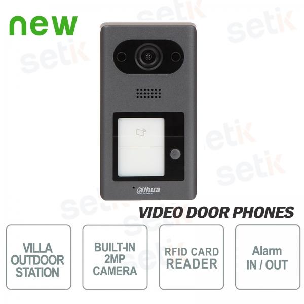 Videocitofono IP PoE Dahua Telecamera 2 MP, 1 pulsante e Lettore RFID