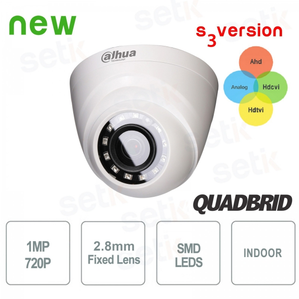 1Megapixel 720P 4in1 IR Dome Camera 2.8mm lens - Dahua