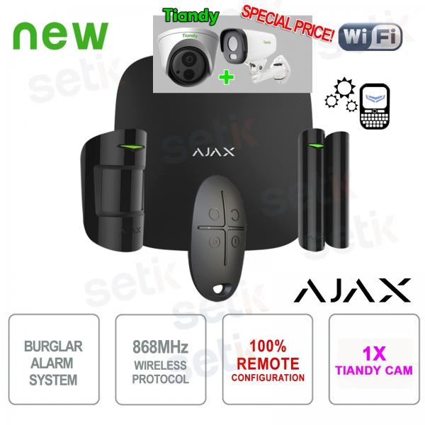 Promo AJAX Professional Wireless Black Alarm Kit + Tiandy IP Camera