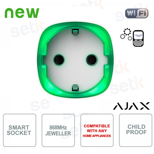Ajax Socket Intelligent Wireless Socket Energy Consumption Control