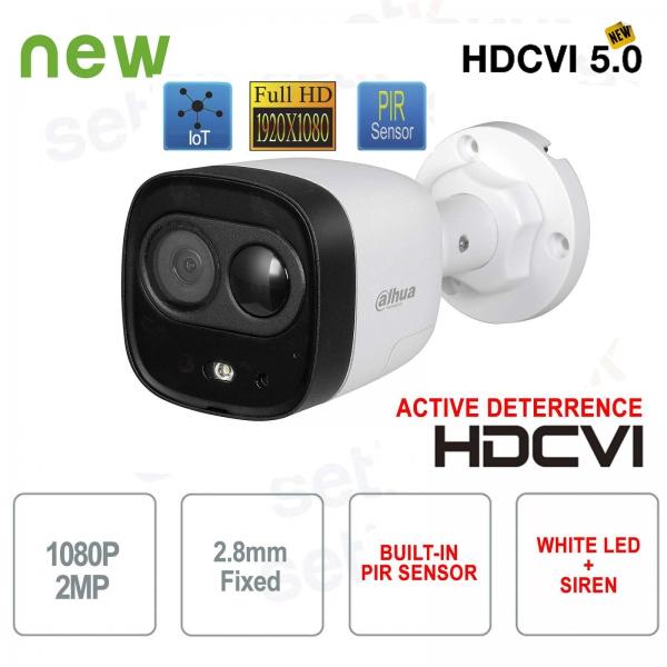 Telecamera da esterno Dahua HD CVI 1080P PIR Active Deterrence 2.8mm