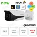 Telecamera da esterno 5MP 4in1 2.8mm Audio Starlight WDR Dahua