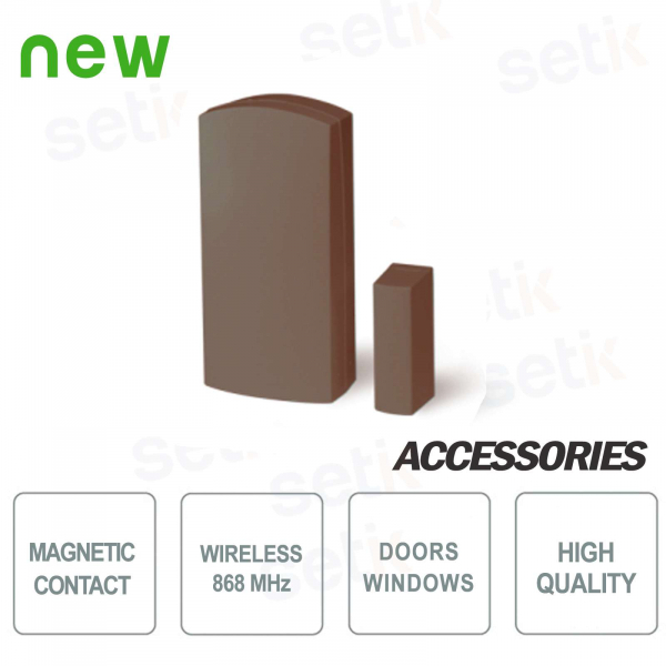 AMC Magnetic Contact via Radio 868Mhz x Doors and Windows - Brown