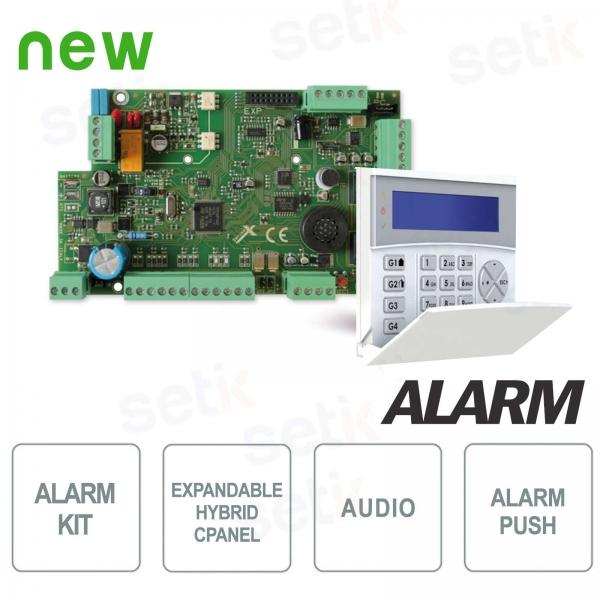 Kit Centrale Allarme 8 ingressi espandibile 32 + Tastiera LCD Blu - AMC