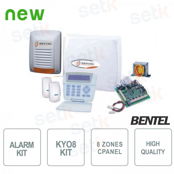 Kit Kyo 8 Bentel Wire Alarm 8 Zone Anti-theft KYO8