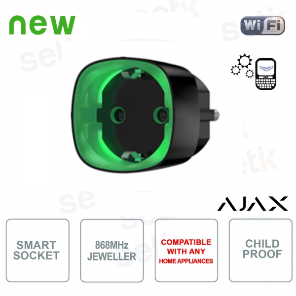 Ajax Socket Intelligent Wireless Socket Energy Consumption Black