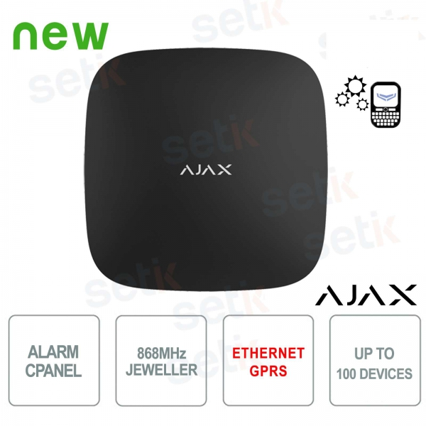 Centrale di Allarme Ajax HUB GPRS / LAN 868MHz Black Version