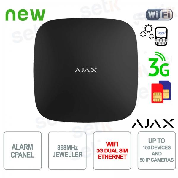 Centrale di Allarme Ajax HUB WIFI 3G Dual SIM LAN 868MHz Black Version