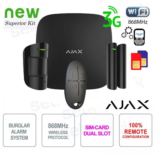 AJAX Kit di Allarme Professionale Wireless WIFI / 3G Dual Sim / LAN Black Version