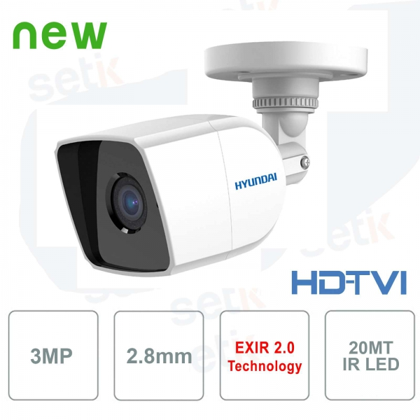 External HD camera Hyundai 3MP TVI IR20 2.8mm