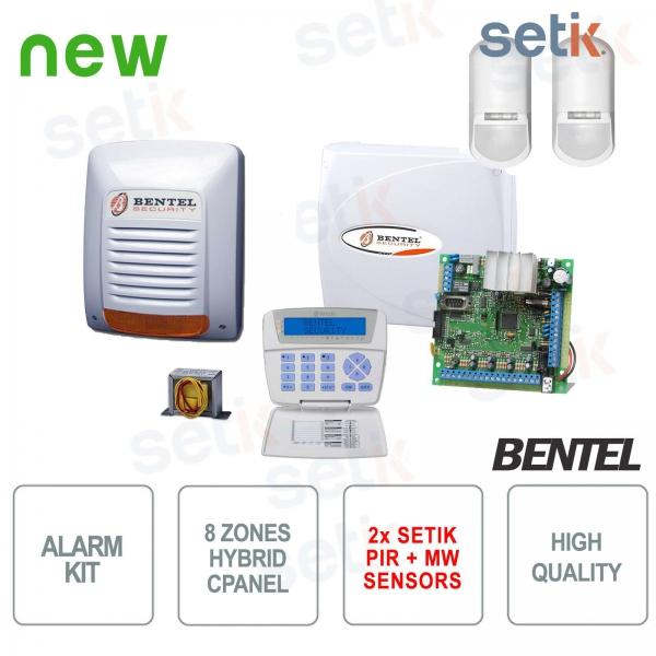 KIT Allarme Bentel KYO Antifurto Casa + Sensori Setik