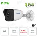 Telecamera IP ONVIF PoE da esterno Hyundai 4 MP IR 2.8 mm H.265