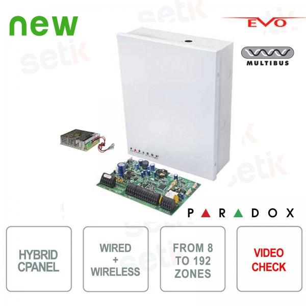 Centrale d'allarme Paradox EVOHD Ibrida 8 Zone Espandibile - Verifica Video