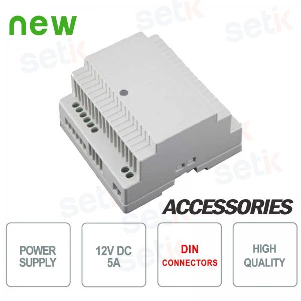 12V 5A power supply DIN Setik connection