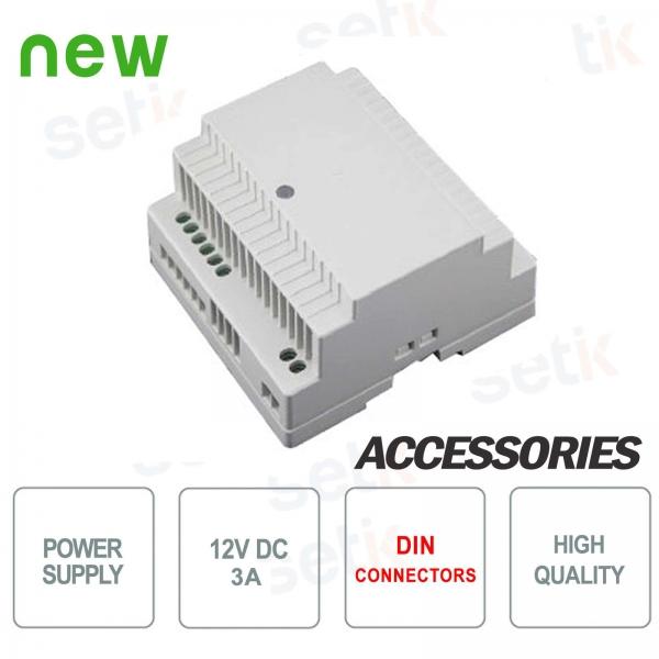 12V 3A power supply DIN Setik connection