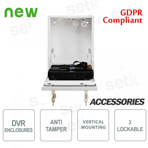 Pulsar metal container DVR box Tamper - Mini Vertical White