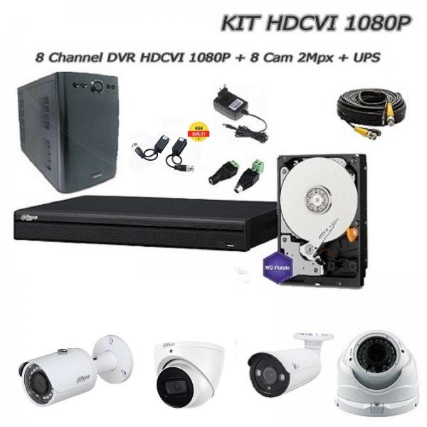 8-Channel HD-CVI 2Mpx Video surveillance Kit  - DAHUA