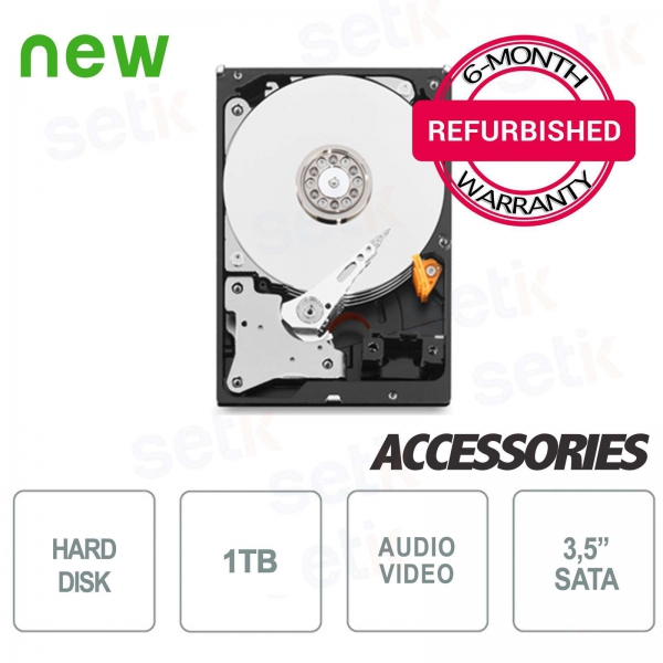 "HD 1TB 3.5 ""Hard Disk - Refurbished with Warranty - High Quality"