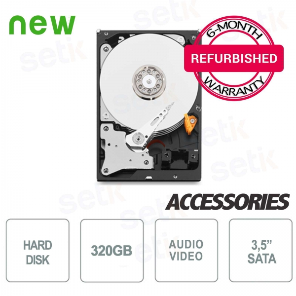 "Hard Disk HD 320GB 3.5 ""- Regenerated with Warranty - High Quality"