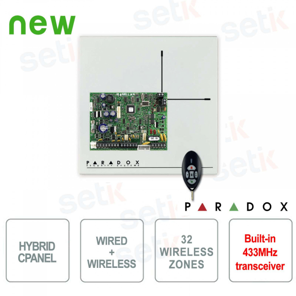 Magellan Centrale Alarm Paradox MG5000 Wireless 433MHz Cablable Hybrid