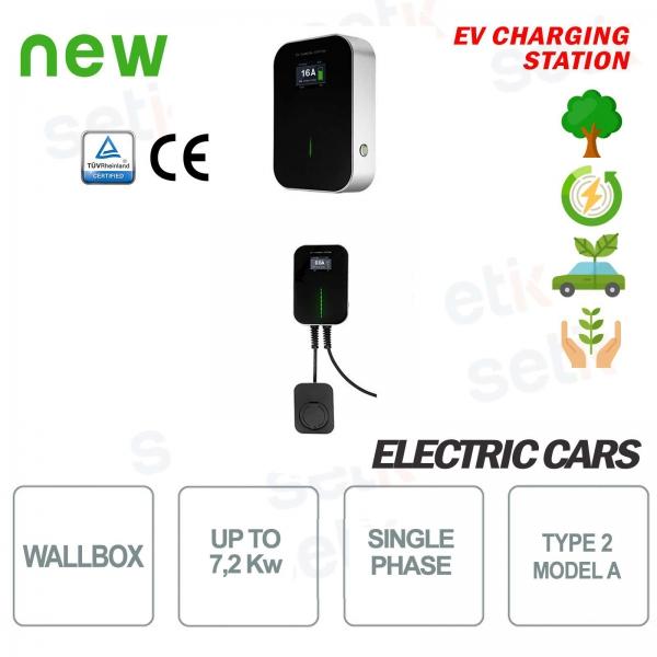 WallBox Stazione di ricarica EV Auto Elettriche Monofase 7,2Kw Femmina