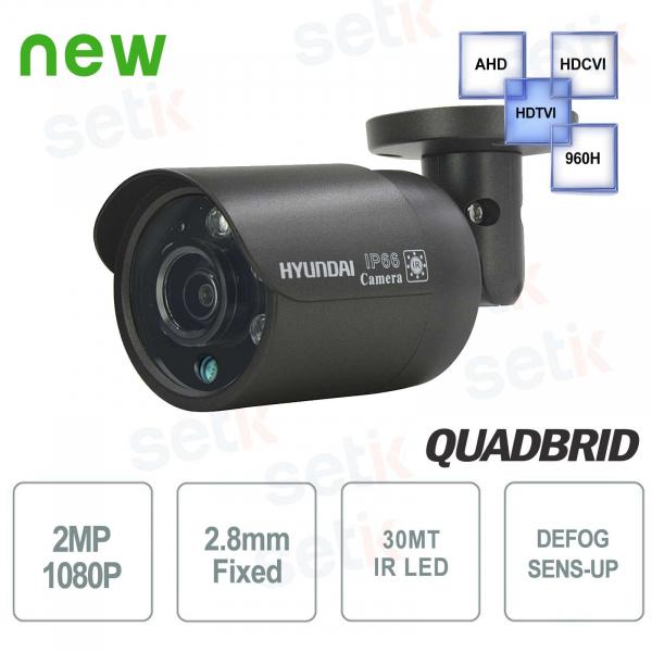 Hyundai 2 MP 4 in 1 Video Surveillance Camera Bullet 2.8 mm IR Dark Gray