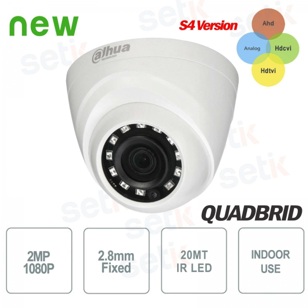 Indoor HD CVI 4 in1 2MP 2.8mm IR camera - Dahua
