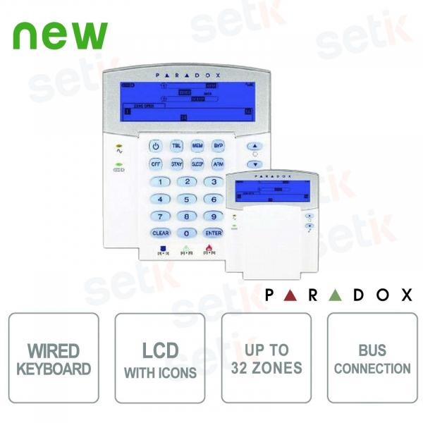 Paradox Keypad Alarm LCD LCD Backlit Icons BUS