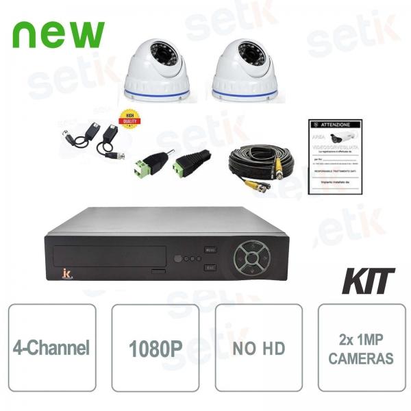 4-channel AHD 720P video surveillance kit 2 Cam No HD - Home Series